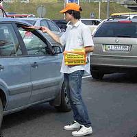 Распространение листовок в авто Киев