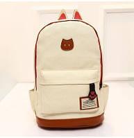 Стильный городской рюкзак Белый с ушками, фото 1