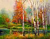 «Осенняя мелодия» картина маслом