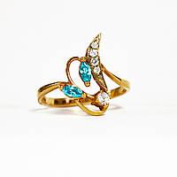 Золотое кольцо с цирконием 87392