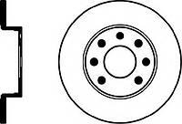 Диск тормозной передний FERODO DDF104, DDF1904, DRF104; BOSCH 0986478080, 0986479829 на Opel Corsa, Kadett