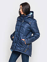 Зимняя женская куртка-парка больших размеров 90189