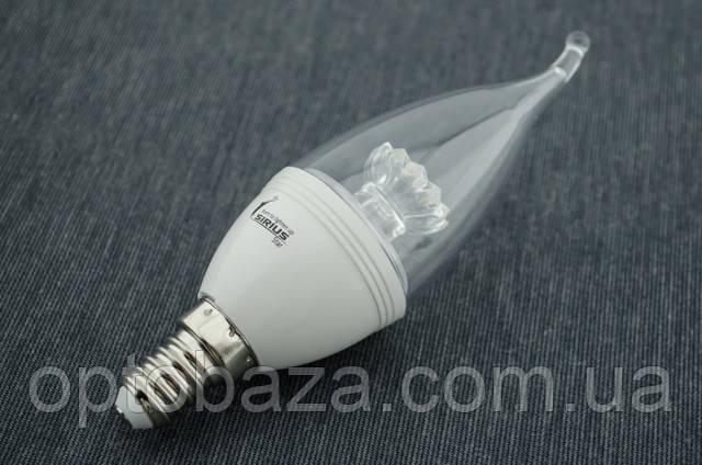LED лампа Sirius Свеча С37 6Вт E14 2700K