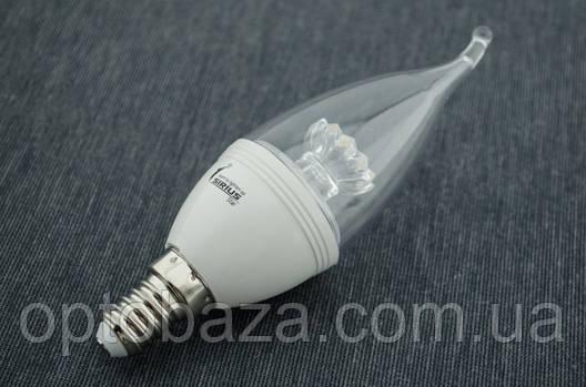LED лампа Sirius Свеча С37 6Вт E14 2700K, фото 2