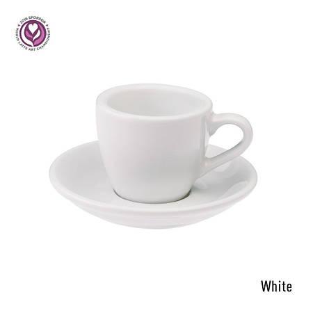 Набір чашка та блюдце для еспресо  Loveramics Egg 80ml Espresso Cup & Saucer (White)