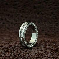 """Кольцо с белой позолотой """"Вильямса VII"""""""