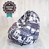Кресло мешок SanchoBag M 110x80 см Print Amsterdam (511)