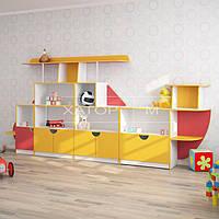 Детская стенка для игрушек «Вертолет»
