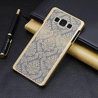 """Чехол для Samsung Galaxy А3 А300-310 A5 A500/A7 A700 """"Ажурный узор""""+Защитная пленка в подарок Бес-ая доставка"""