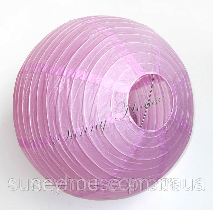 Куля підвісний декоративний «Плісе Класик», діаметр 15 див. Колір бузковий