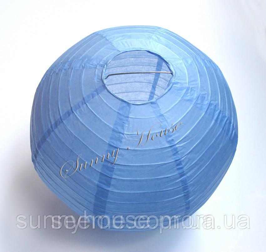 Шар подвесной декоративный «Плиссе Классик», диаметр 30 см.Цвет аква