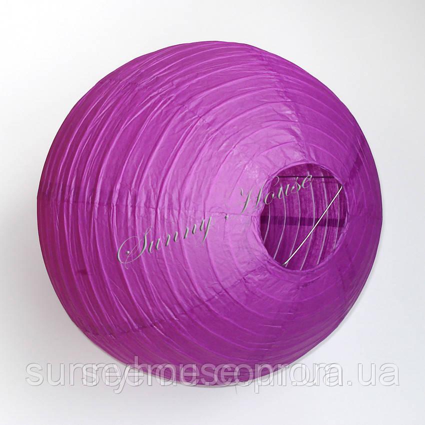 Шар подвесной декоративный «Плиссе Классик», диаметр 45 см.Цвет фиалковый