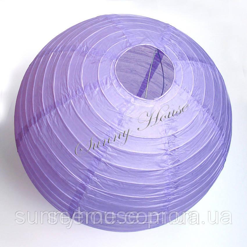 Шар подвесной декоративный «Плиссе Классик», диаметр 45 см.Цвет лавандовый