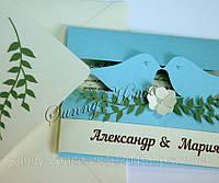 Пригласительные на свадьбу, коллекция «Птички»