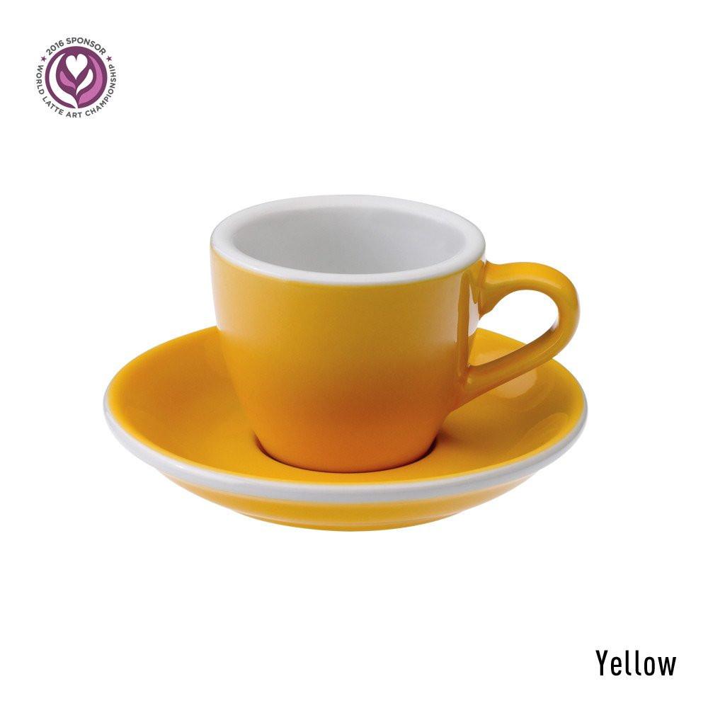 Набір чашка та блюдце для еспресо  Loveramics Egg 80ml Espresso Cup & Saucer (Yellow)