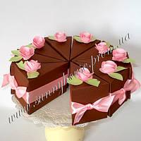 Дизайнерский бумажный торт ручной работы
