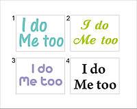 Наклейка на обувь «I do/ Me too»