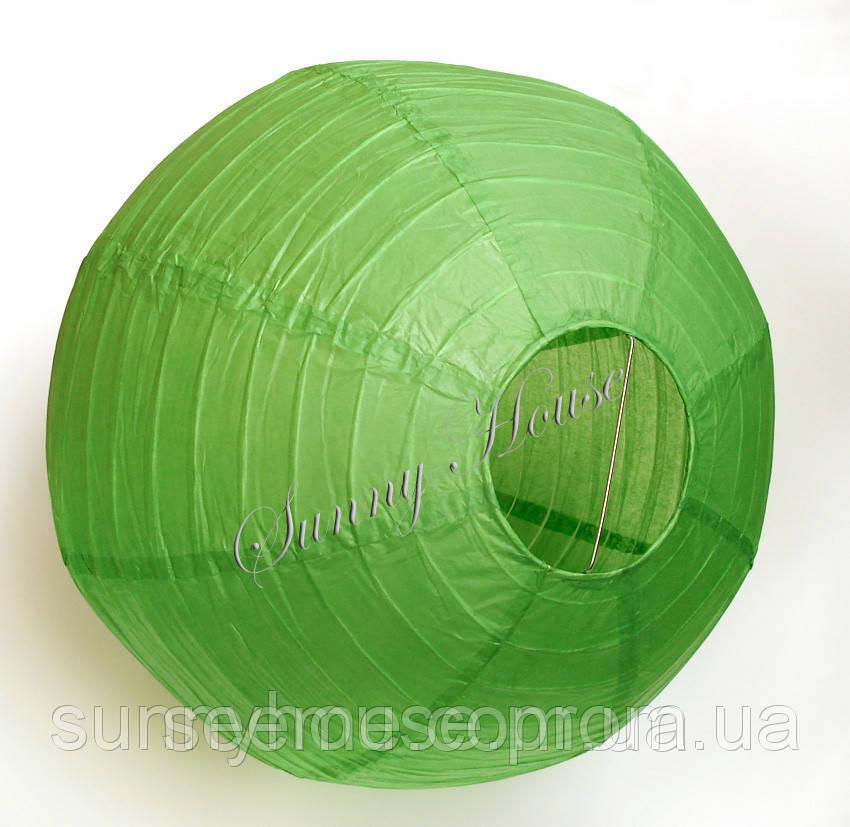 Куля підвісний декоративний «Плісе Класик», діаметр 45 див Колір зелений папороть