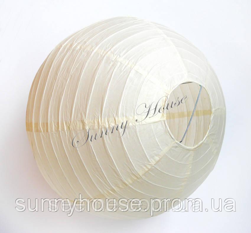 Шар подвесной декоративный «Плиссе Классик», диаметр 45 см. Цвет молочный