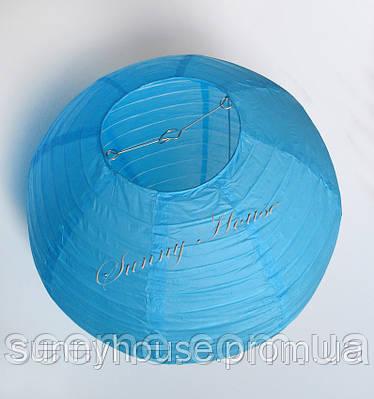Шар подвесной декоративный «Плиссе Классик», диаметр 45 см.Цвет небесно-голубой