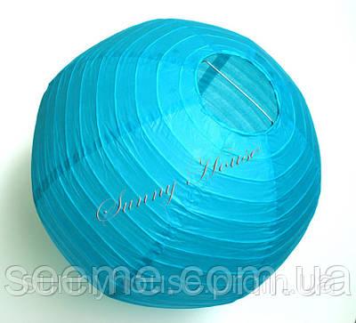 Шар подвесной декоративный «Плиссе Классик», диаметр 45 см.Цвет бирюза