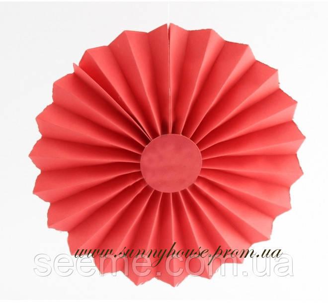 """Бумажный декор """"Вертушка"""", 30 см, цвет красный"""
