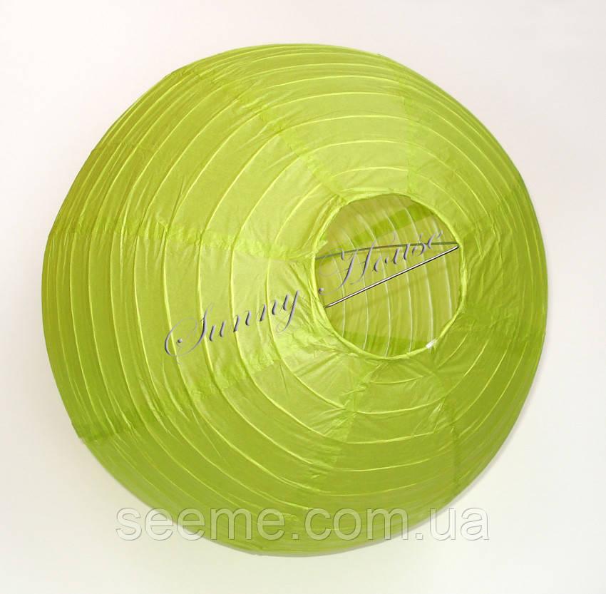 Шар подвесной декоративный «Плиссе Классик», диаметр 35 см.Цвет оливковый