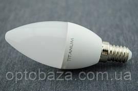 LED лампа Titanum Свеча C37 5Вт E14 4100K, фото 2
