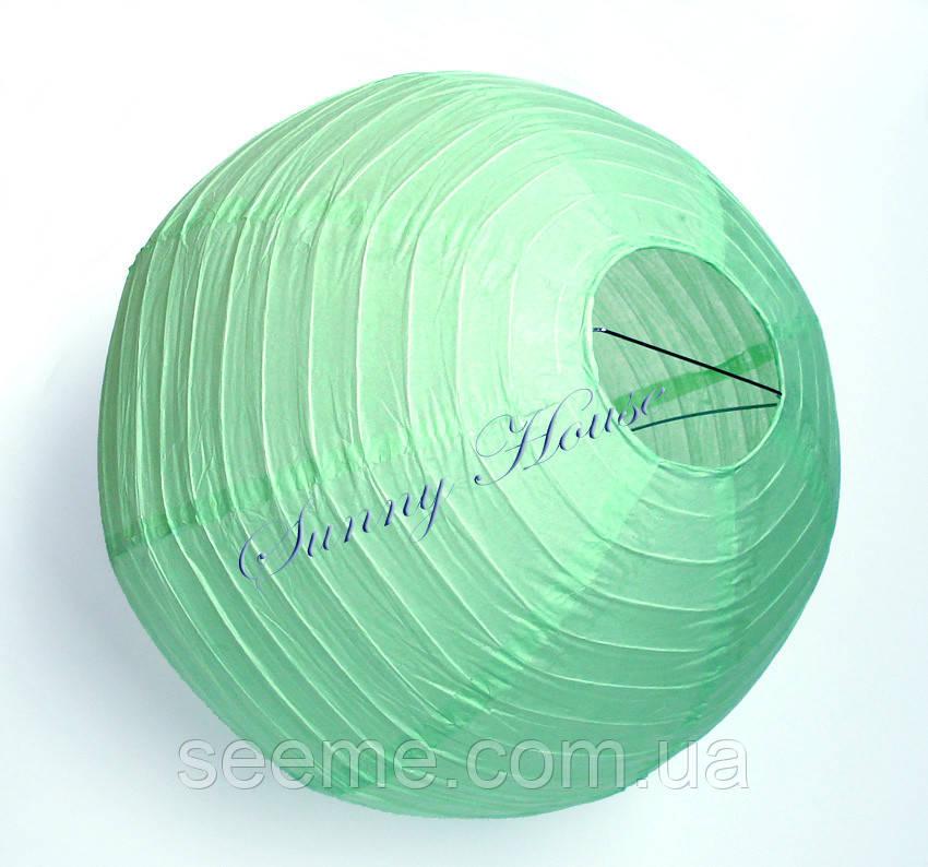 Шар подвесной декоративный «Плиссе Классик», диаметр 25 см. Цвет мятный