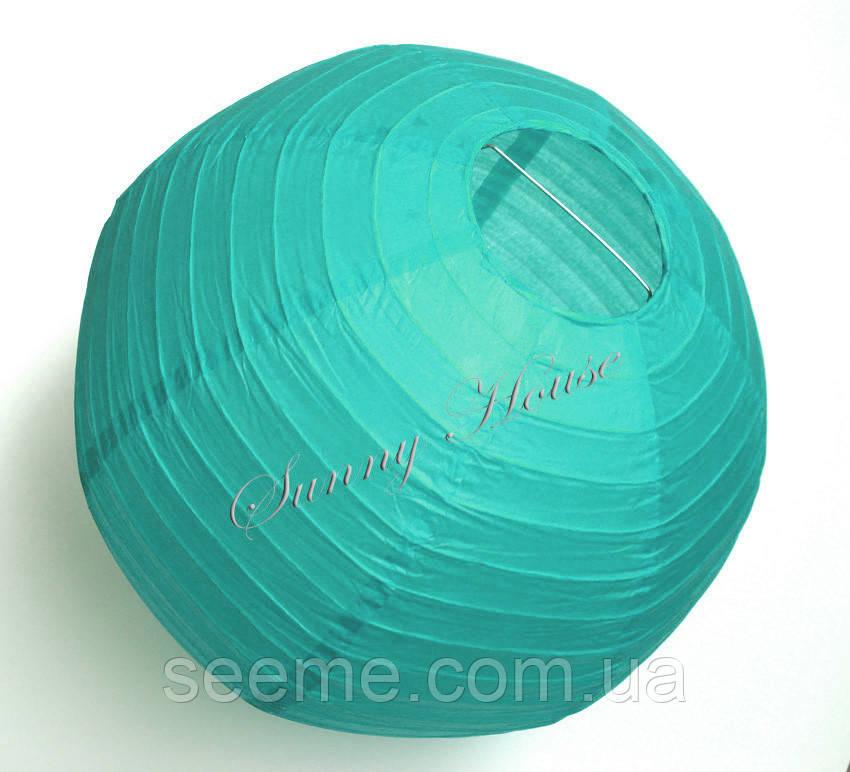Шар подвесной декоративный «Плиссе Классик», диаметр 25 см. Цвет зеленая бирюза