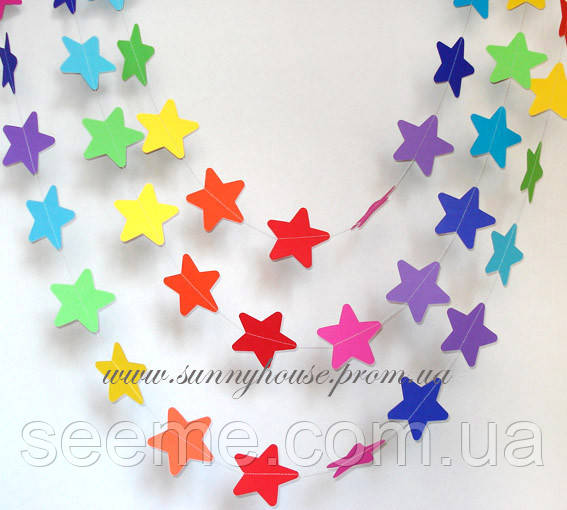 Гирлянда для декора праздника «Звёзды», 1,5 метра