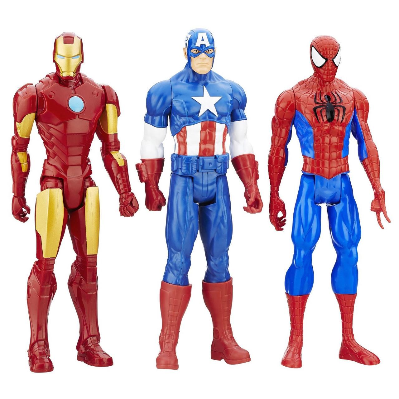 Набор фигурок Человек-Паук, Капитан Америка и Железный ...