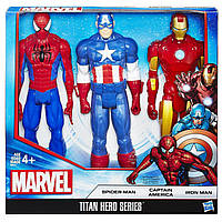 Набор фигурок Человек-Паук, Капитан Америка и Железный Человек, фото 1