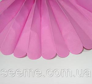 Бумажные помпоны из тишью «Fuchsia» из 12 листов, диаметр 50 см,