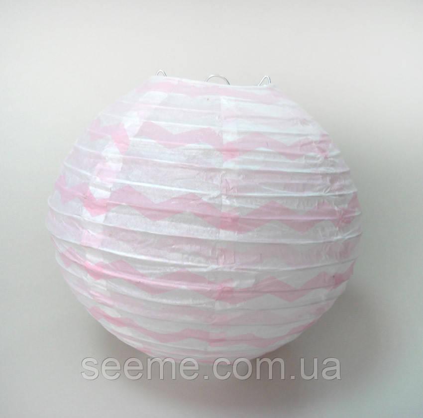 Набор шаров подвесных декоративных «Плиссе Классик Шеврон», 3 шт. Цвет нежно-розовый