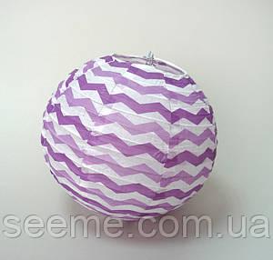 Набор шаров подвесных декоративных «Плиссе Классик Шеврон», 3 шт. Цвет лавандовый