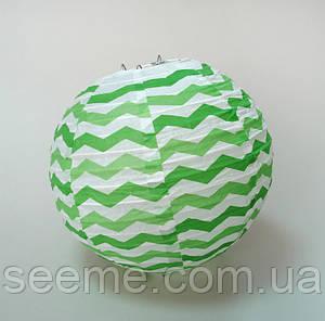 Набор шаров подвесных декоративных «Плиссе Классик Шеврон», 3 шт. Цвет зеленый