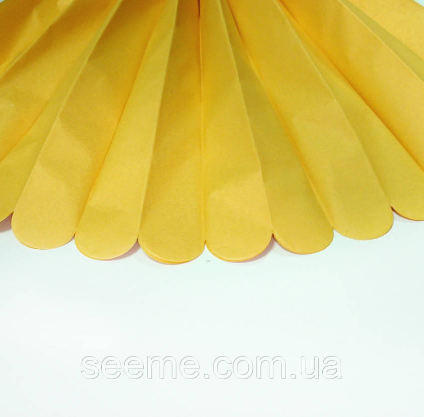 Бумажные помпоны из тишью «Light Yellow», из 12 листов, диаметр 50 см