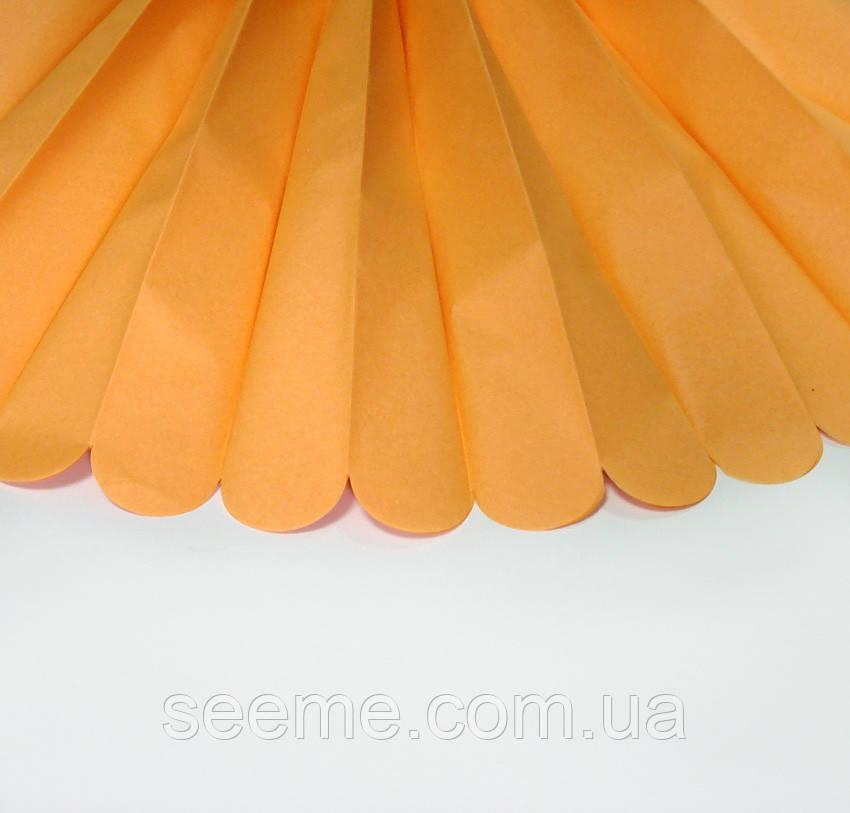 Бумажные помпоны из тишью «Goldenrod», из 12 листов, диаметр 50 см