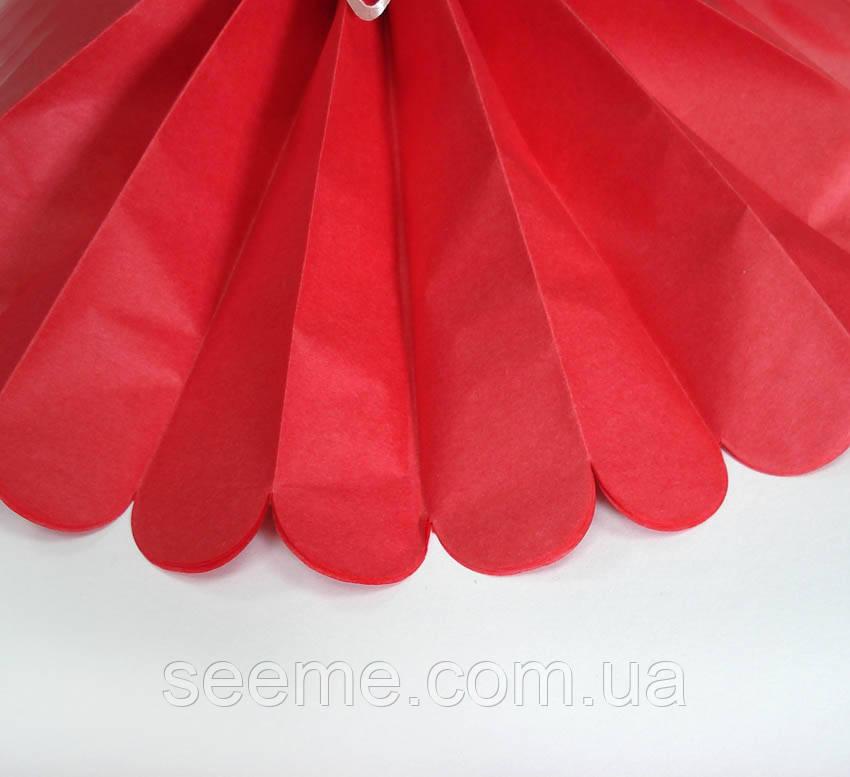 Бумажные помпоны из тишью «Red», из 12 листов, диаметр 50 см