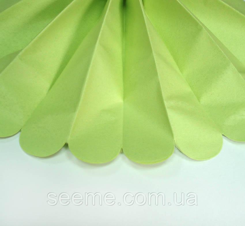 Бумажные помпоны из тишью «Leaf Green», из 12 листов, диаметр 50 см