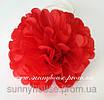 Бумажные помпоны из тишью «Red», диаметр 25 см., фото 2