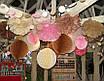 Бумажные помпоны из тишью «Pink», диаметр 35 см., фото 3