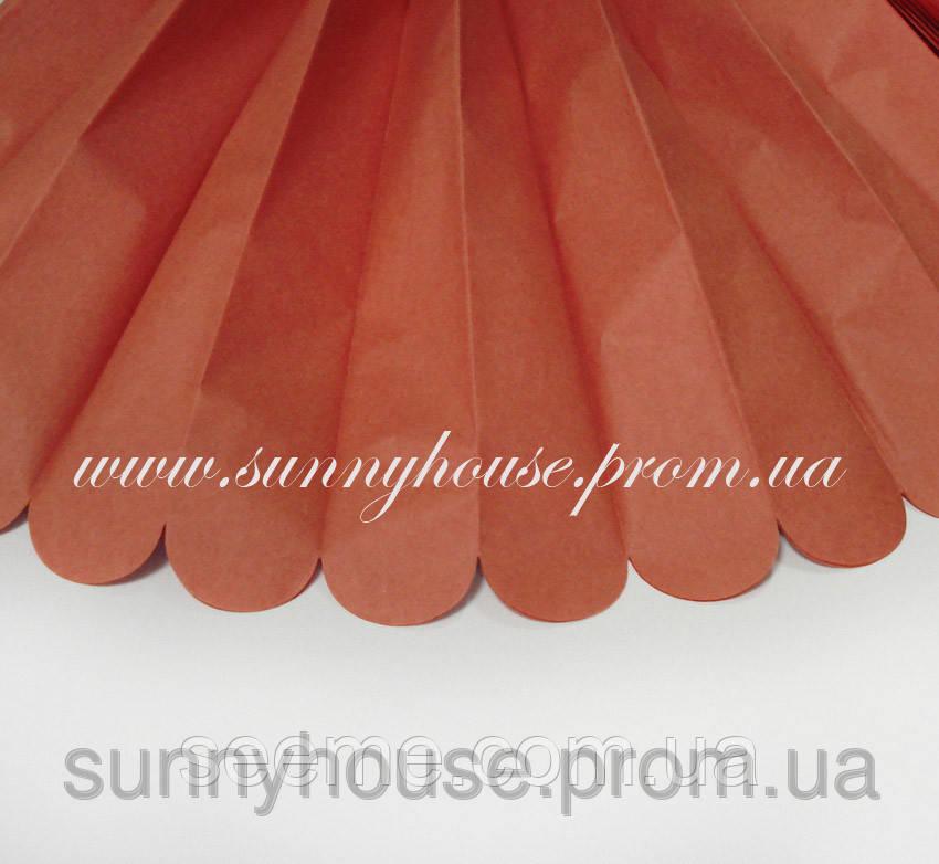 """Бумажные помпоны из тишью """"Cinnamon"""", диаметр 35 см."""