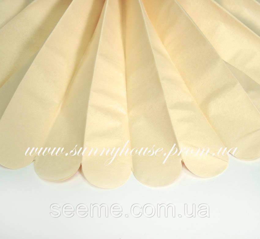Бумажные помпоны из тишью «French Vanilla», диаметр 35 см.