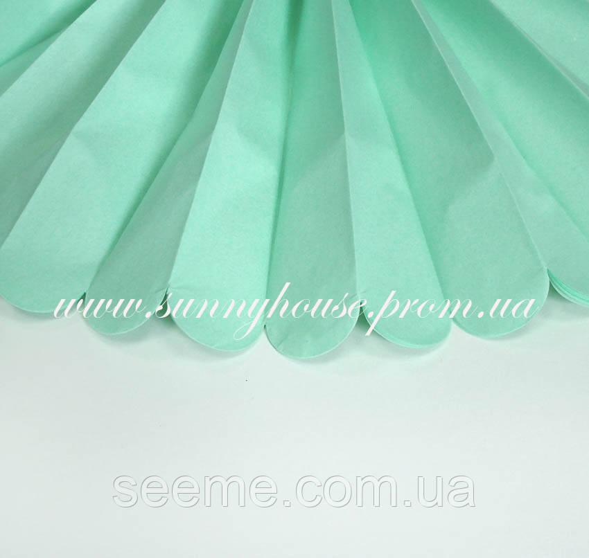 Бумажные помпоны из тишью «Cool Mint», диаметр 35 см.