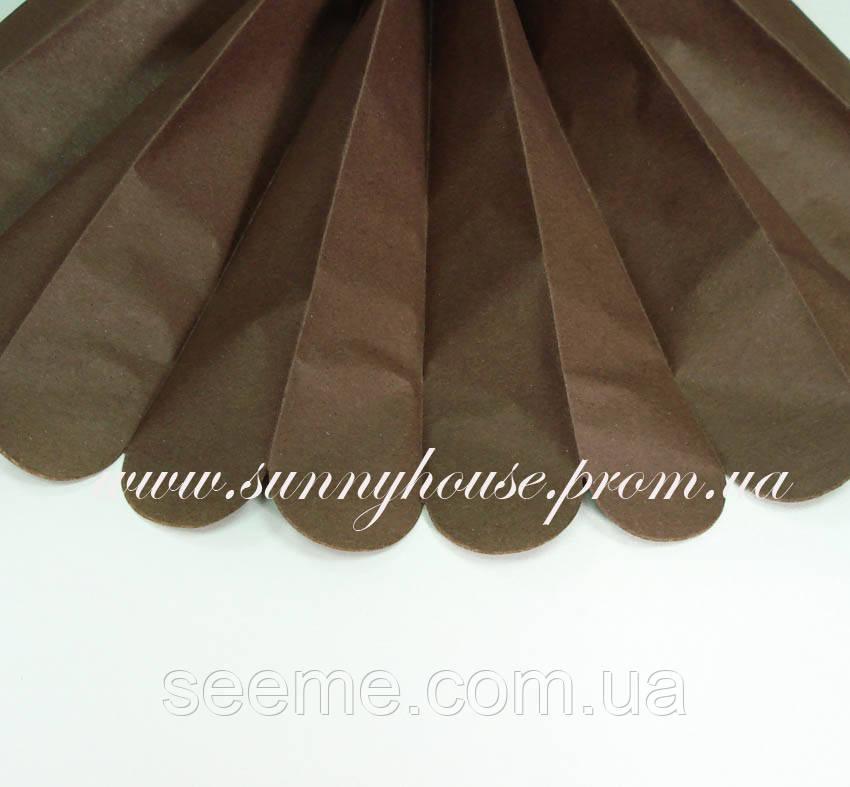Бумажные помпоны из тишью «Chocolate», диаметр 35 см.