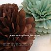 """Бумажные помпоны """"Cedar Green"""", диаметр 35 см., фото 3"""