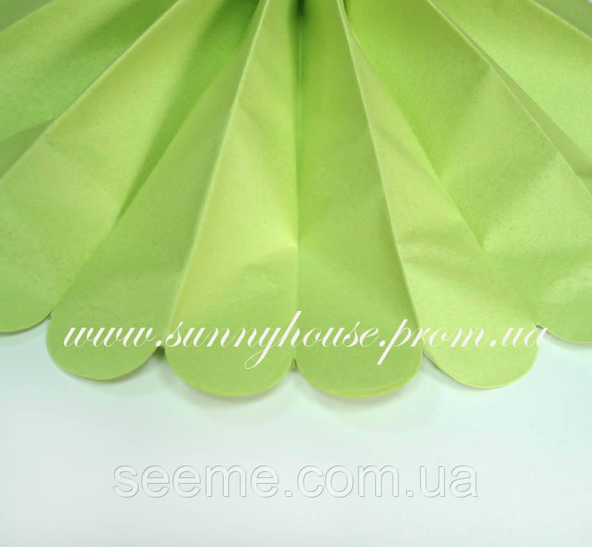 Бумажные помпоны из тишью «Leaf Green», диаметр 35 см.