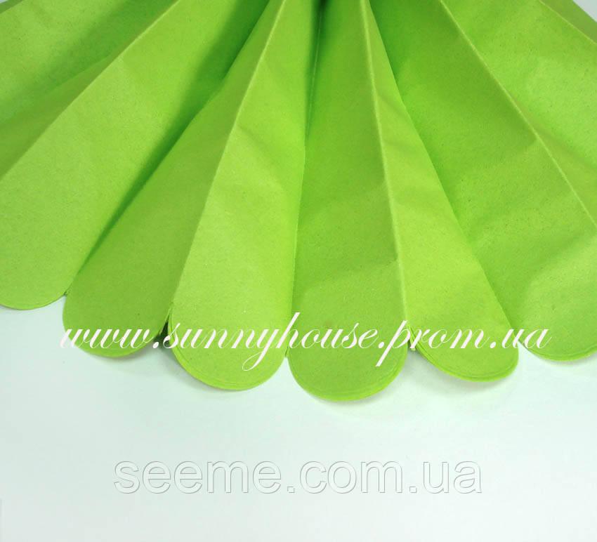 Бумажные помпоны из тишью «Citrus Green», диаметр 35 см.